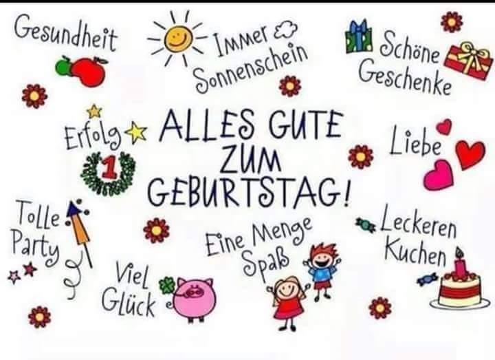 Поздравление с днем рождения на немецком для женщины