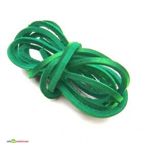 shoestrings-leather-decker-pair-green.jp