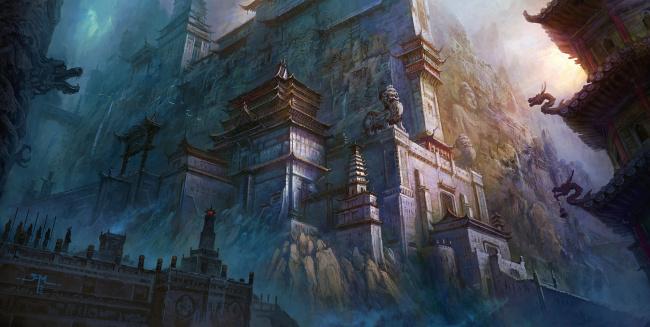 fentezi-zamki-hramy-gory-skaly-pagoda-ti