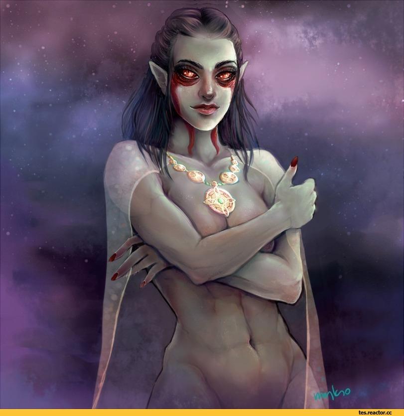 myks0-Dark-Elf-Skyrim-The-Elder-Scrolls-