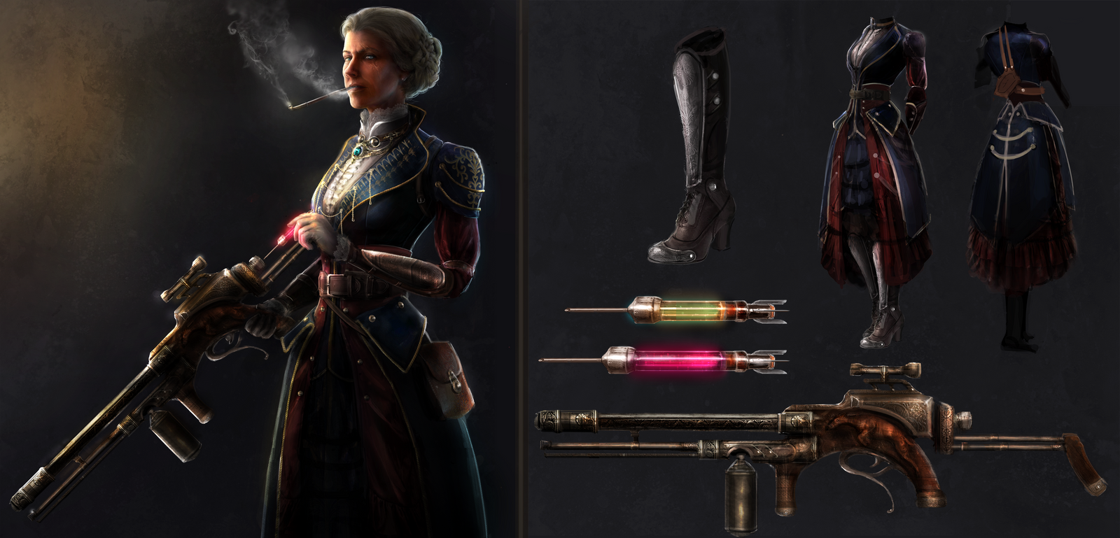 the_order_comp__costume_and_weapon_desin