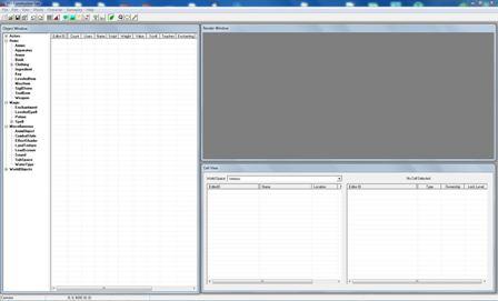 Главное окно программы TES 4: Construction Set