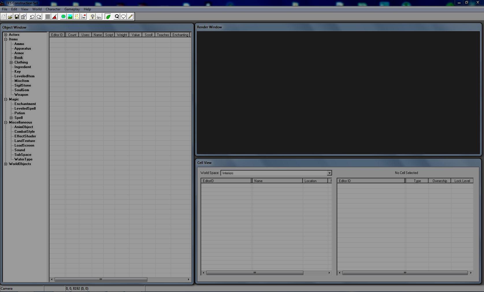 Панель инструментов главного окна конструктора