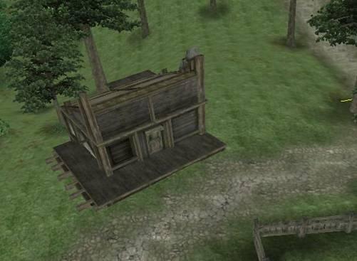 Мы поместили модель нашего дома в мире