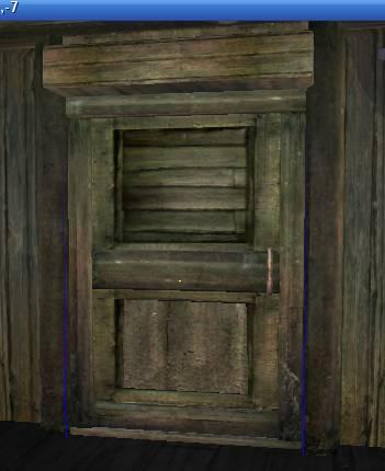 Так выглядит дверь, помещённая в окно Render Window