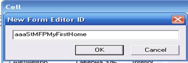 New Form Editor ID