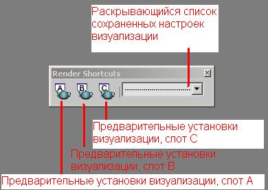 Панель инструментов Render Shortcuts