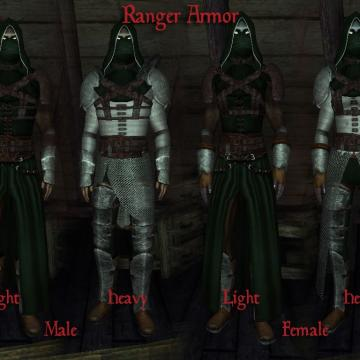 Ranger Armor and Light Daedric Armor