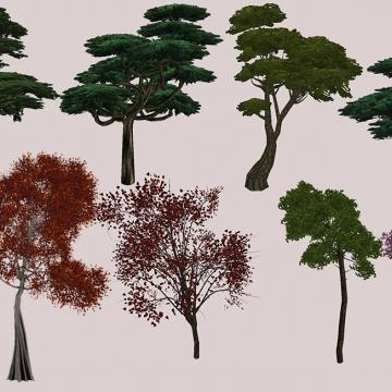 Vurt's Grazelands Trees I (Japan theme)