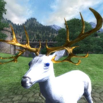 White Stag Deer Mount