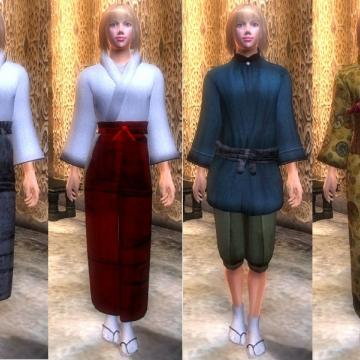 Akaviri Japanese Clothing v4