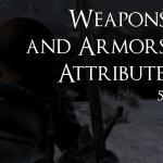 Свойства оружия равным образом брони