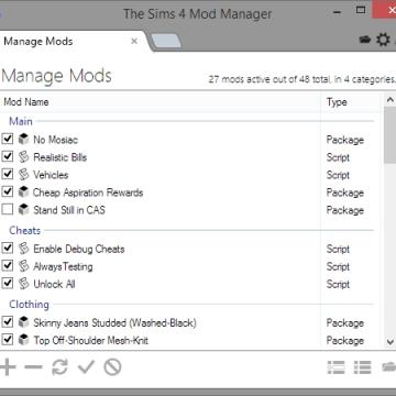The Sims 4 Mod Manager