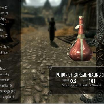 Potions Heal Over Time & Weight Rebalance