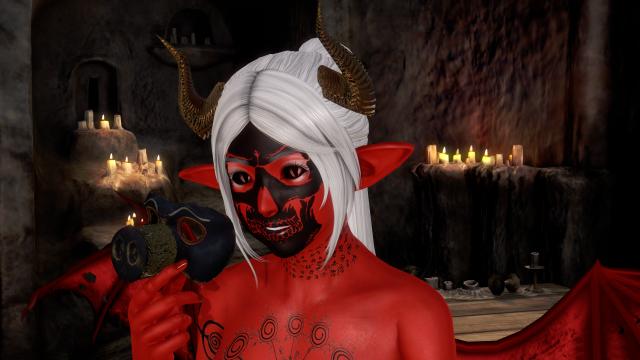 Демон снимает маску.