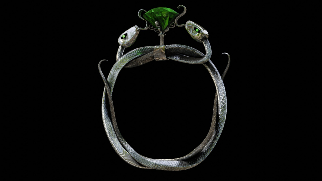 Twin Snakes Silver Ring