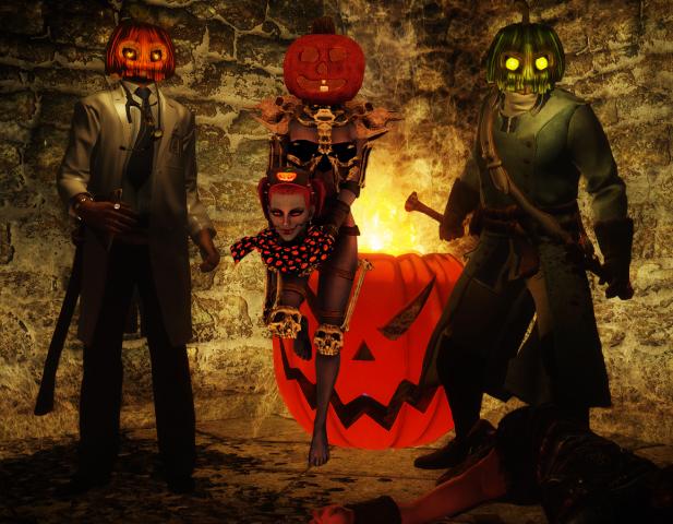 Драк, Ливий и Фуриоза на Хеллуине