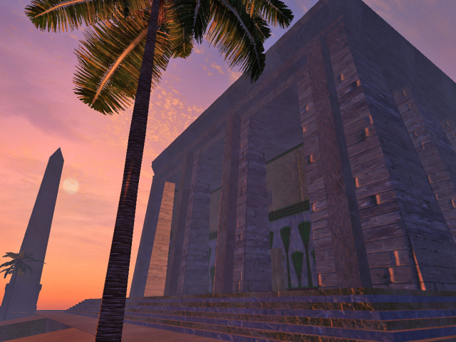 Temple at sunset