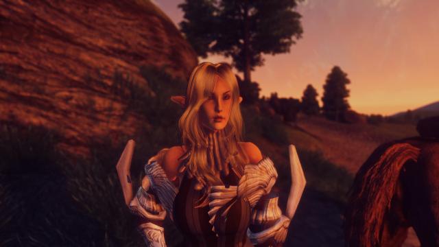 Кавайный обливион. Эльфийка воительница.