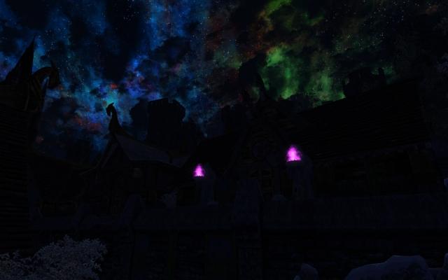 Ночное небенистое небо