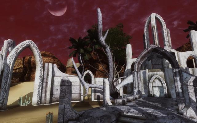 Айлейдские руины в пустыне Алик'р