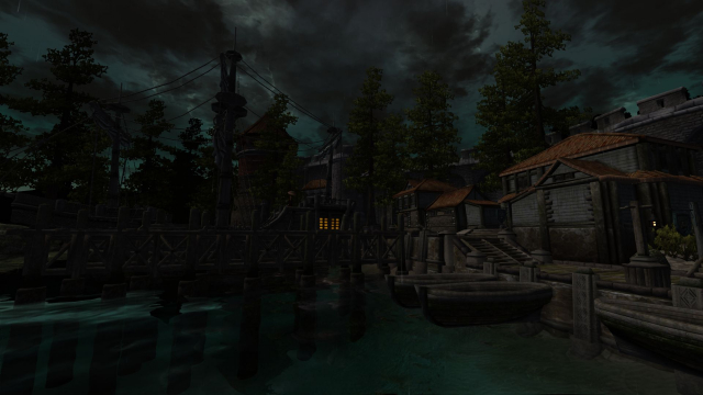 Anvil docks And stormy weather