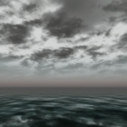 Тучи, море, горизонт