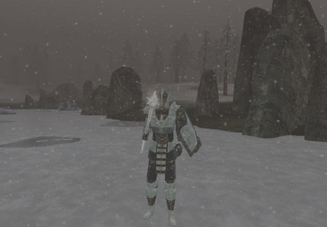 доспехи и оружие ,изо льда