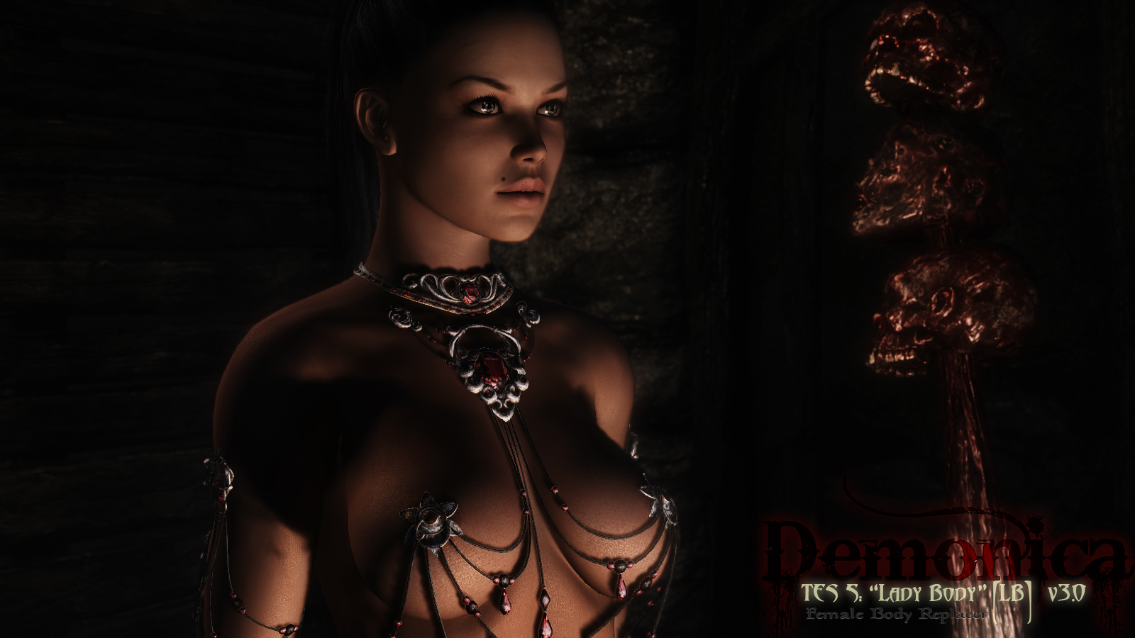 Nude vampire woman wallpaper erotic photo