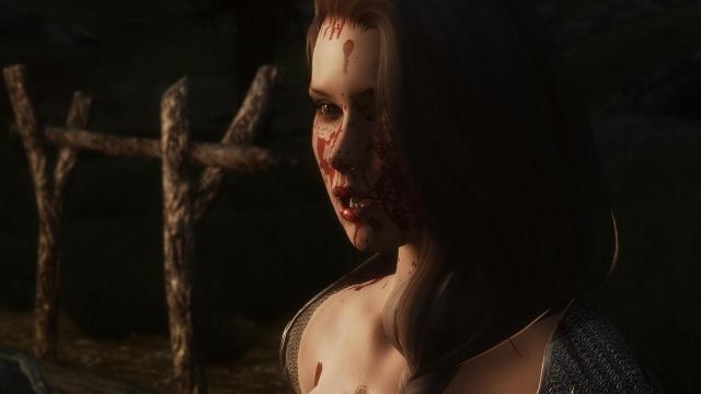 хоррор, кровища, понажовщина...вобщем начались обычные будни в Скайриме