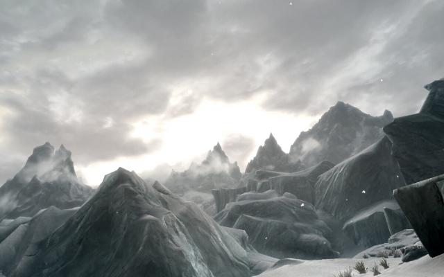Скайримский пейзаж