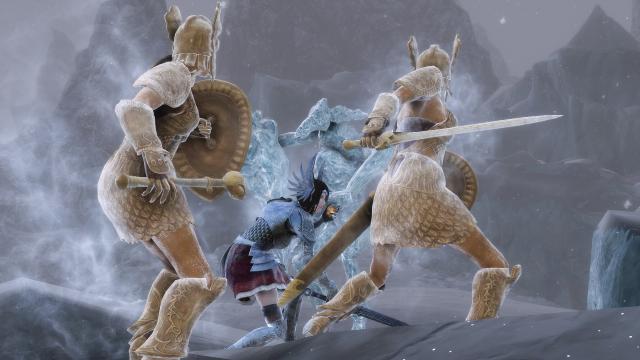 Битва с ледяными Атронахами 2