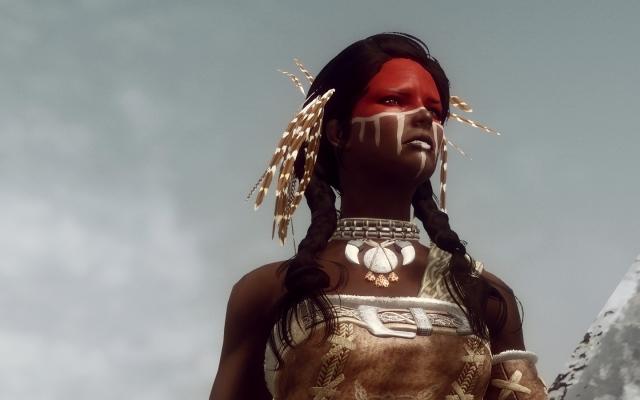 Индейка? Индееха? Индейщица? Короч баба-индеец