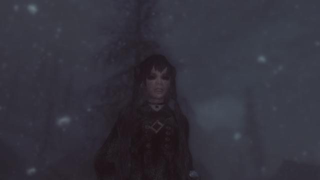 Vampire in the snow