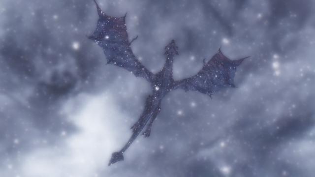 Skyrim (new - 83. Возвращение на Глотку Мира: ночная снежная буря)
