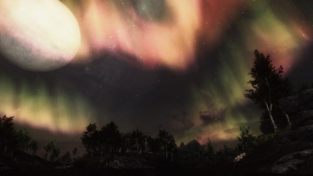 Ночное небо Skyrim