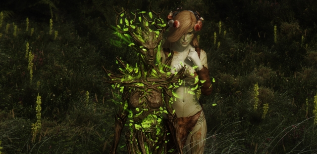 Dryad and forest