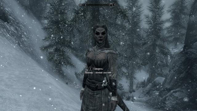 Скайрим-напарник вампир:)