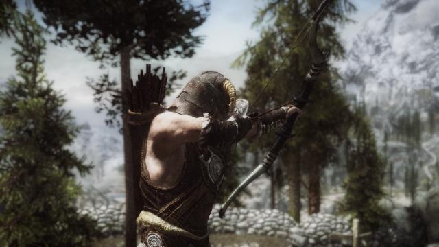 Охотничий лук , подмыха и шлем