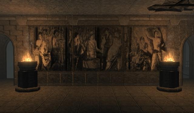 Каменные барельефы для тайлсета