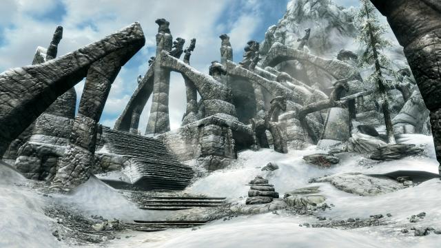 Ветреный пик Skyrim Special Edition