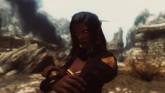 Dark-skin elf-witch