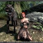 Девушка воспитанная волчаками и раскрашенная Митьками.