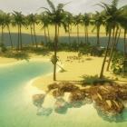 пустыня, оазис, озеро, остров, хижина, пляж...