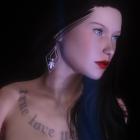 Татуированная баб... девушка.