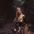 Girl in the dark forest