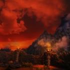 Багровый закат над Вайтраном