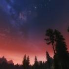 Небо в закате дня