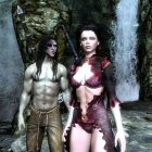 Первый скрин Скайрима.Кристабелла со своим возлюбленным...