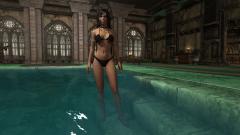 Дова в купальнике